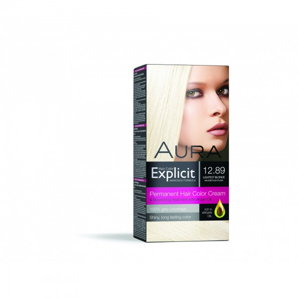 Explicit Hair Color 12.89 New Lightest Blond